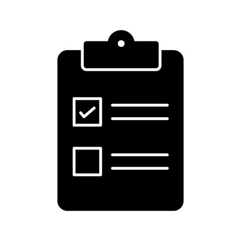Icono de lista de verificación de vectores