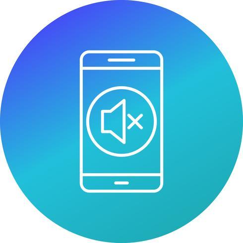 Icône de vecteur d'application mobile silencieux