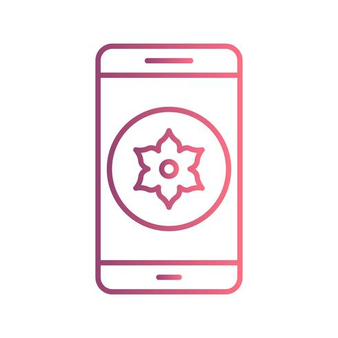 Galerie Mobile Anwendungssymbol Vektor
