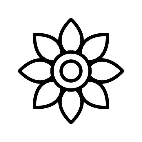Ícone de vetor de flor