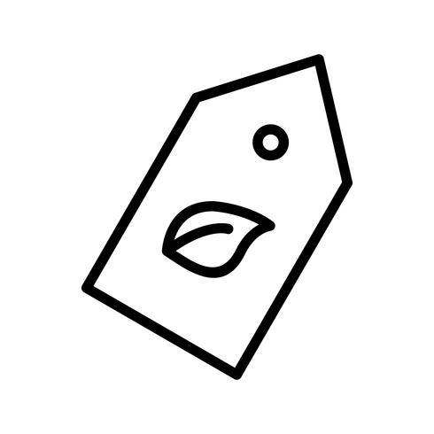 Eco Label-Vektor-Symbol