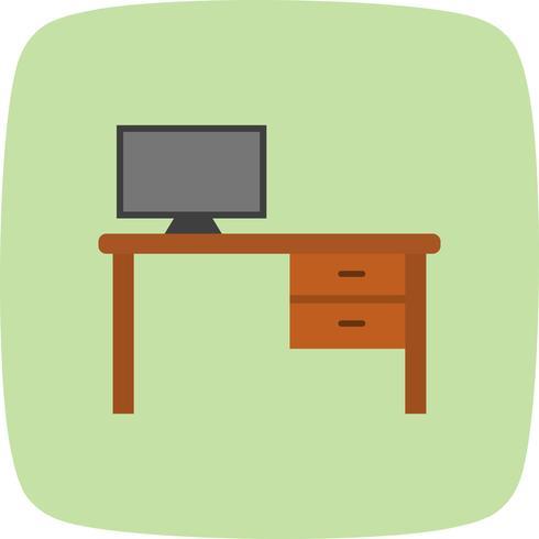 Icona di vettore del tavolo da ufficio