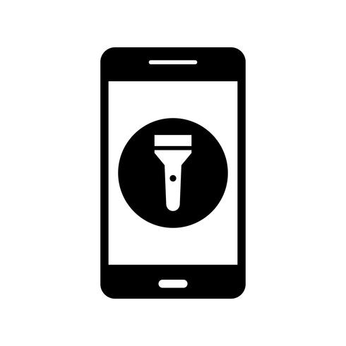 Flash Light Mobiele applicatie Vector Icon