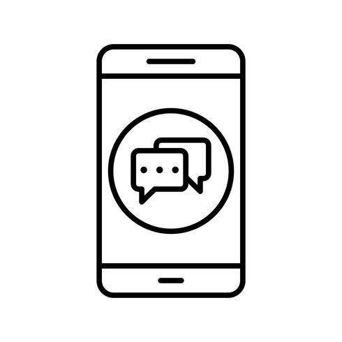 Konversations-mobile Anwendungs-Vektor-Symbol