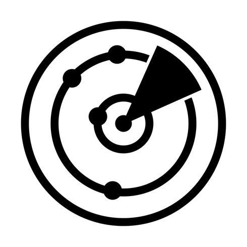 Ícone de vetor de radar