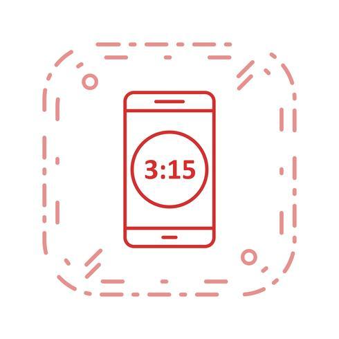 Tijdweergave Mobiele applicatie Vector pictogram