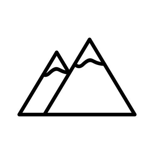 Montagnes Vector Icon