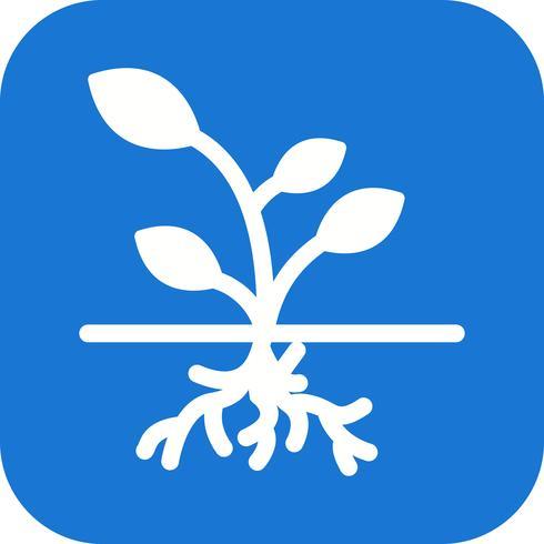 Icono de vector de raíz