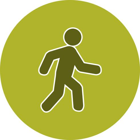 Vector wandelen pictogram