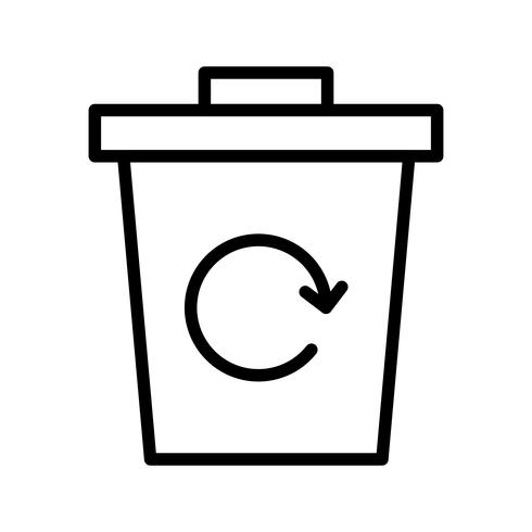 afval recycle vector pictogram