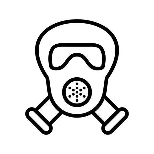 Icono de Vector de máscara de gas