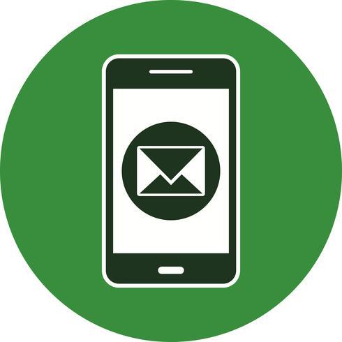 Bericht mobiele applicatie Vector Icon