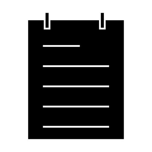 Notizblock-Vektor-Symbol