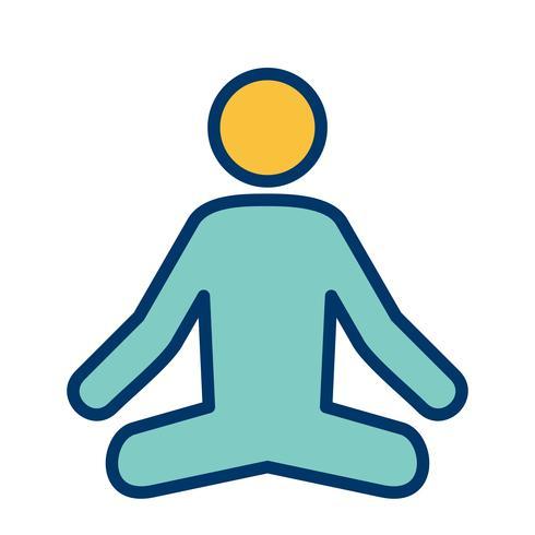 vektor yoga ikon