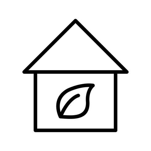 Icône de vecteur maison écologique