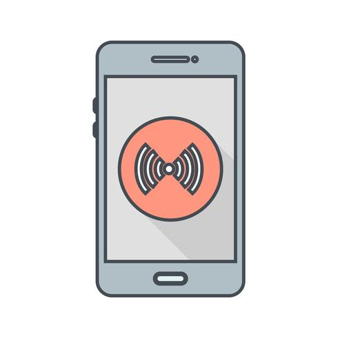 Hotspot mobiele applicatie vector pictogram