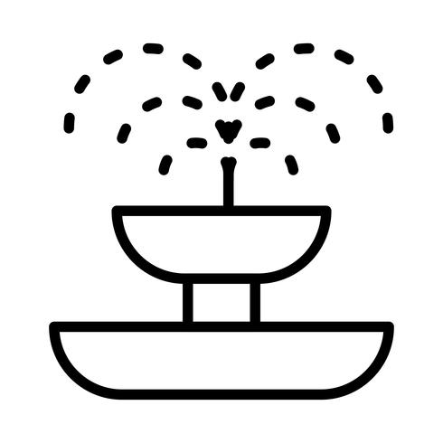 Fontein Vector Icon