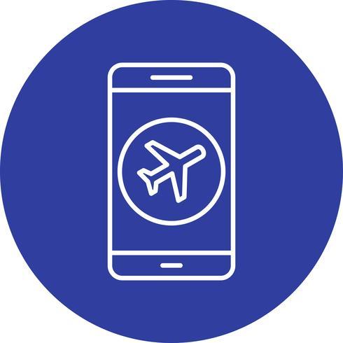 Flygplan Mobile Application Vector Icon