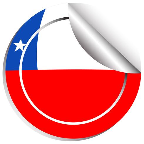 Vlag van Chili op ronde sticker