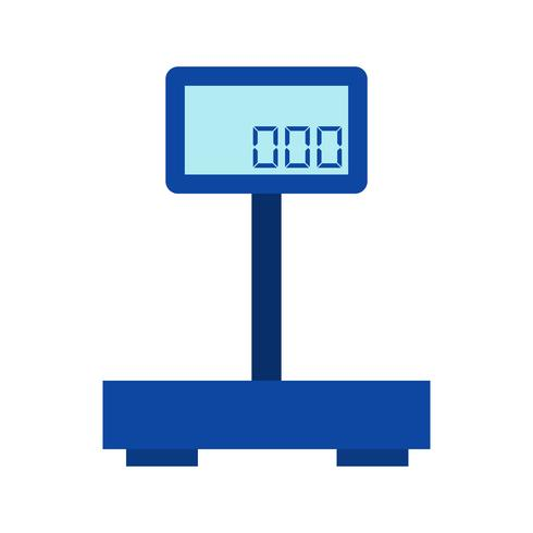 Vector gewicht machine pictogram