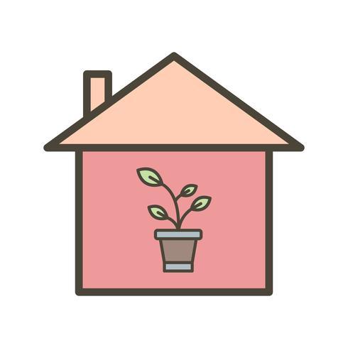 Plant Huis Vector Icon