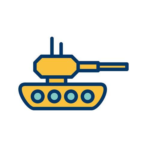 Ícone de vetor de tanque