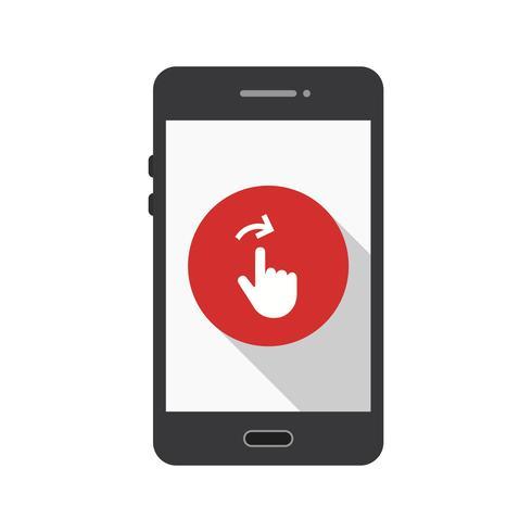 Scorri l'icona del Mobile Application Vector