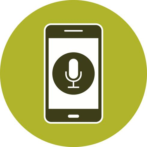 Microphone Mobile Application Vector Icon
