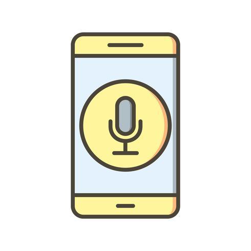 Microfoon mobiele applicatie Vector Icon
