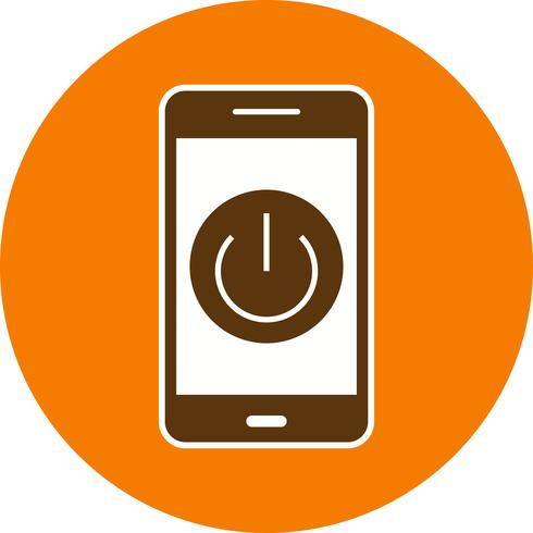 Power off Mobile Application Vector Icon