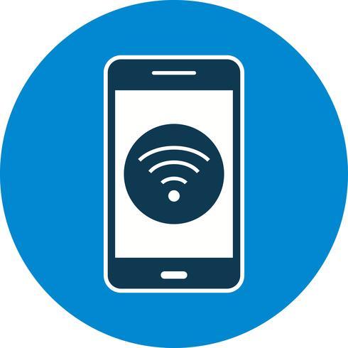 Icono de Vector de Aplicación Móvil Wifi