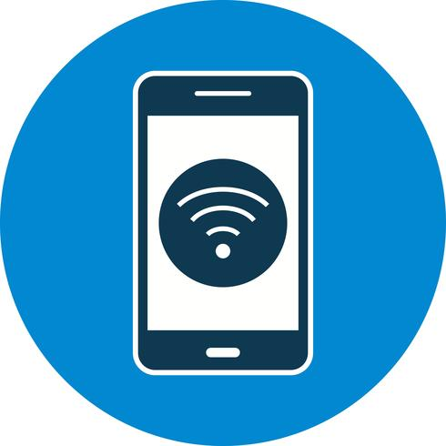 Wifi Mobile Anwendungssymbol Vektor