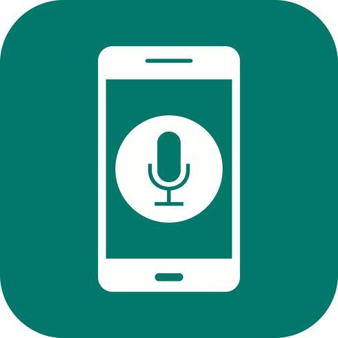 Mikrofon-Anwendungs-Vektor-Symbol