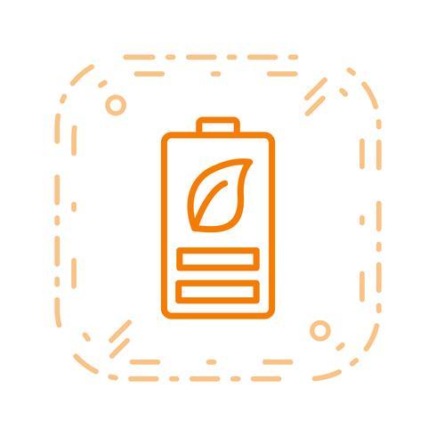 Icône de vecteur de batterie Eco