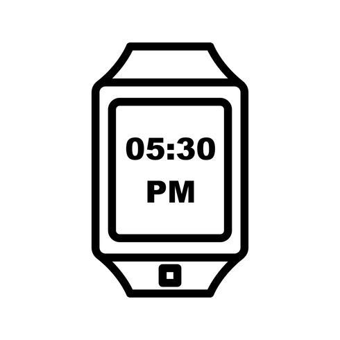 vektor smart klocka ikonen