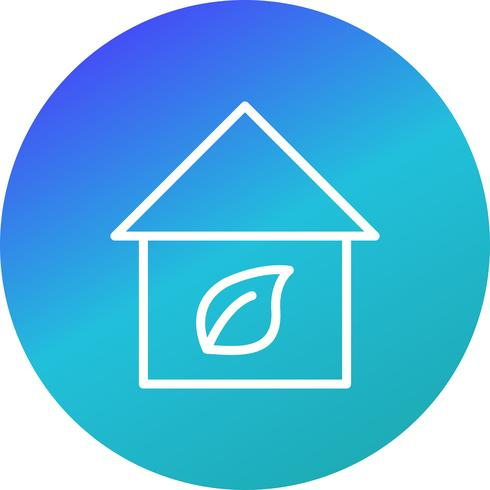 Icono de Vector de Casa Eco
