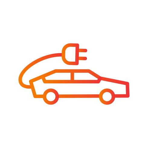 Ícone de vetor de carro elétrico