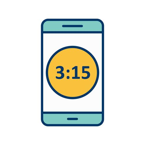 Icône de vecteur d'application mobile d'affichage du temps