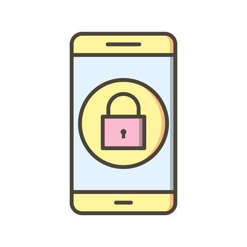 Bloquear la aplicación móvil Vector icono