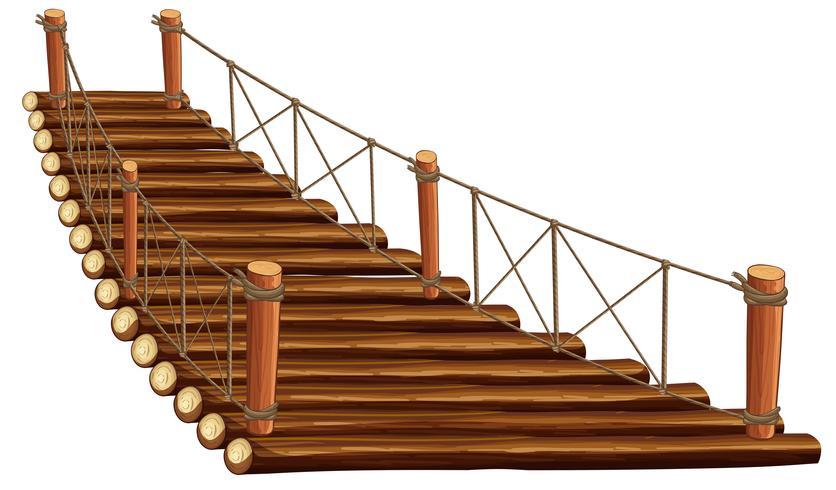 Ponte de madeira com corda