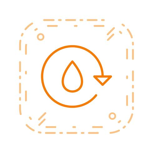water recycle vector pictogram