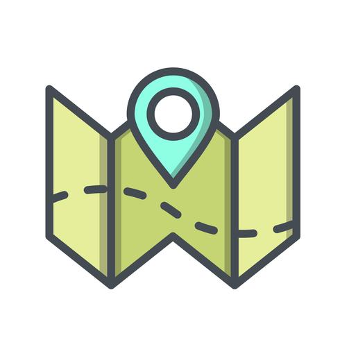 Plan map Vector Icon
