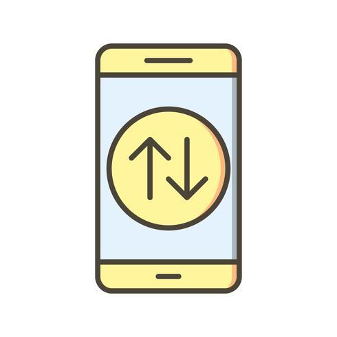 Data Connection Mobile Application Vector Icon