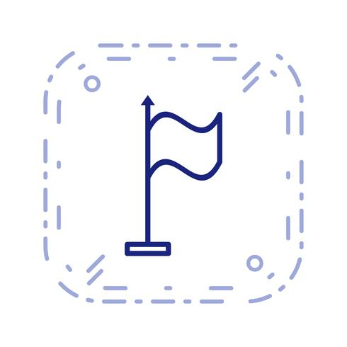 Icono de vector de bandera