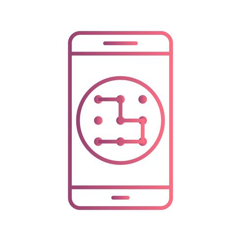 Pattern Mobile Application Vector Icon