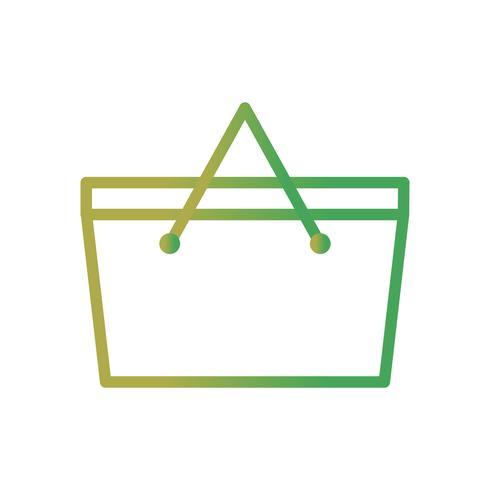 Ícone de vetor de cesta de piquenique