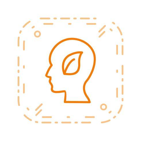 Mente ecológica Vector icono