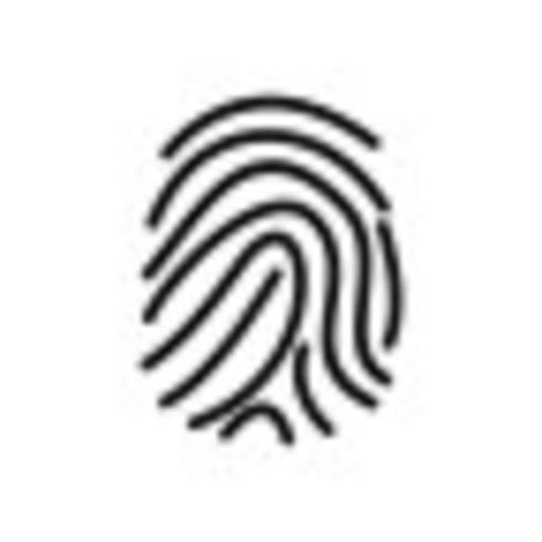 Vingerafdruk Vector Icon