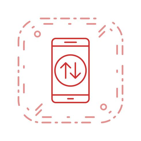 Dataverbinding Mobiele applicatie Vector Icon