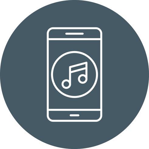 Muziek mobiele applicatie Vector Icon